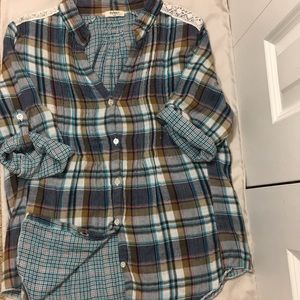 Dylan rolled sleeve flannel